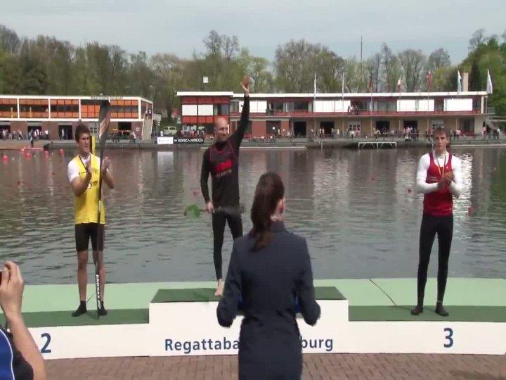 200m Finale Kajak-Herren - Einer DM 2012 Duisburg 28.04.2012
