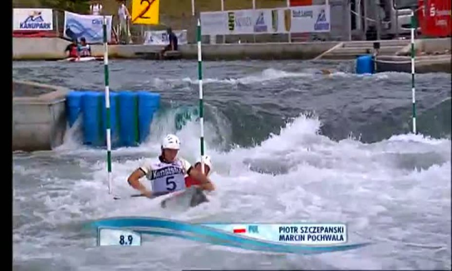 Finale Herren C2 beim Slalom World Cup in Markkleeberg