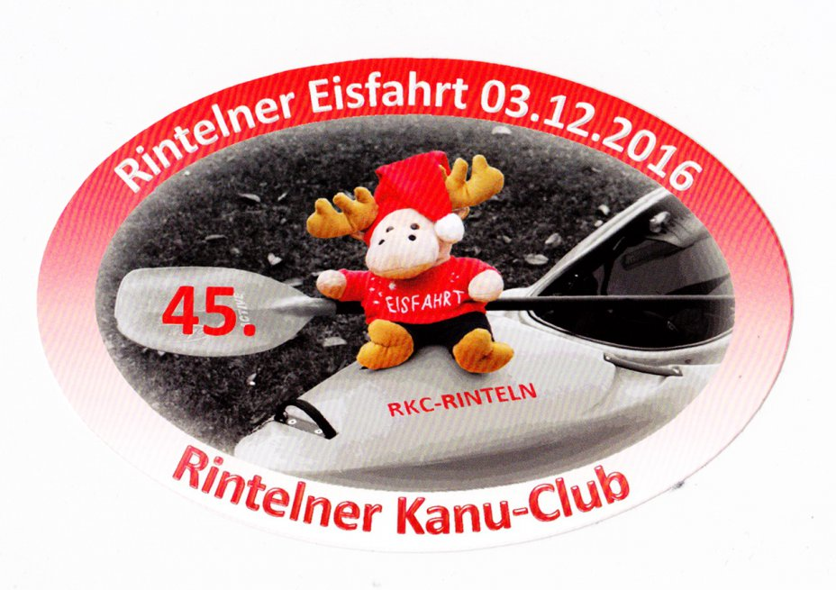 45. Eisfahrt Rinteln,  Winterpaddeln
