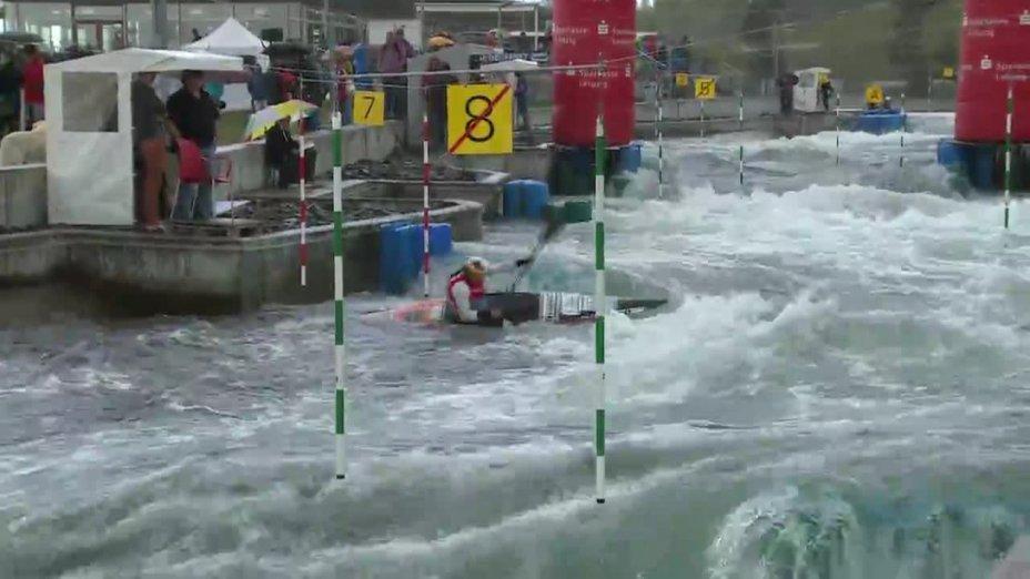Ricarda Funk - Quali 2015  Rennen 2 K1-Damen-Finale / Markkleeberg