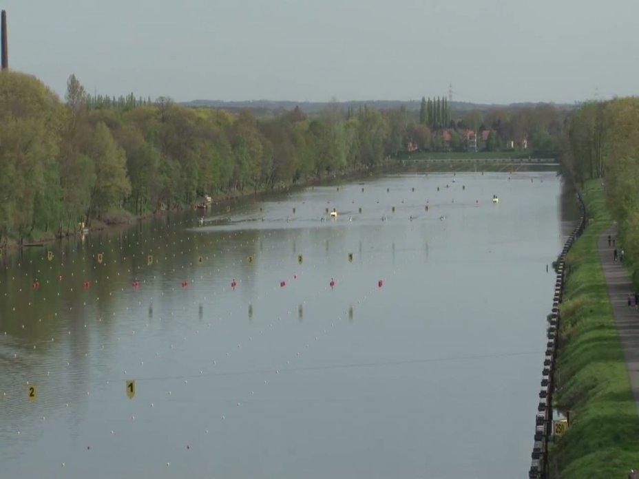 1000m Finale Kajak-Herren - Einer DM 2012 Duisburg 28.04.2012