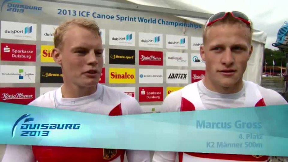 Rendschmidt / Gross O-Ton - K2 500m 4. Platz - Kanu WM 2013 Duisburg