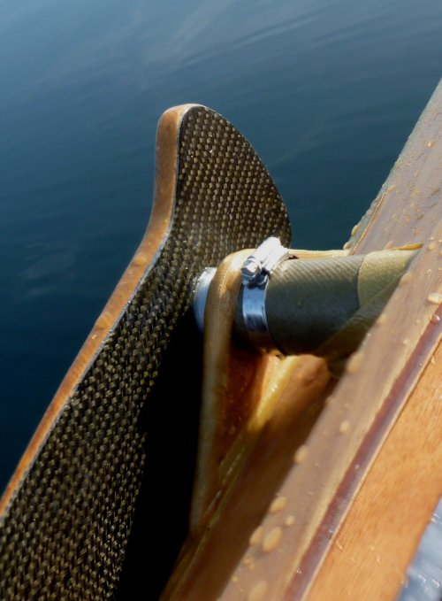 Schwertbefestigung des Bufflehead Segelkanus