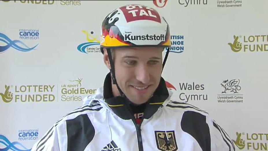 Fabian Dörfler beim Weltcup 2013 in Cardiff (GBR) - INTERVIEW