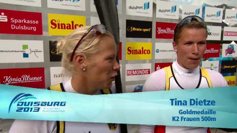 Weber / Dietze O-Ton - K2 500m - Kanu WM 2013 Duisburg