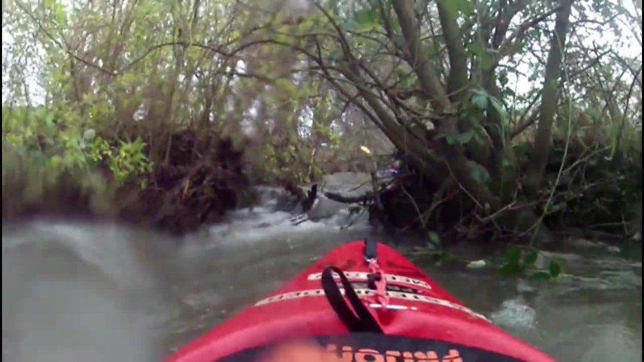 Hochwasserfahrt auf der Rodenberger Aue