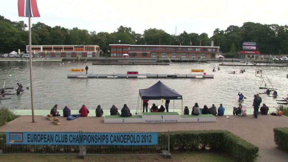 Spiel 105: Deventer gegen Meridian bei der European Club Championships Canoepolo 2012