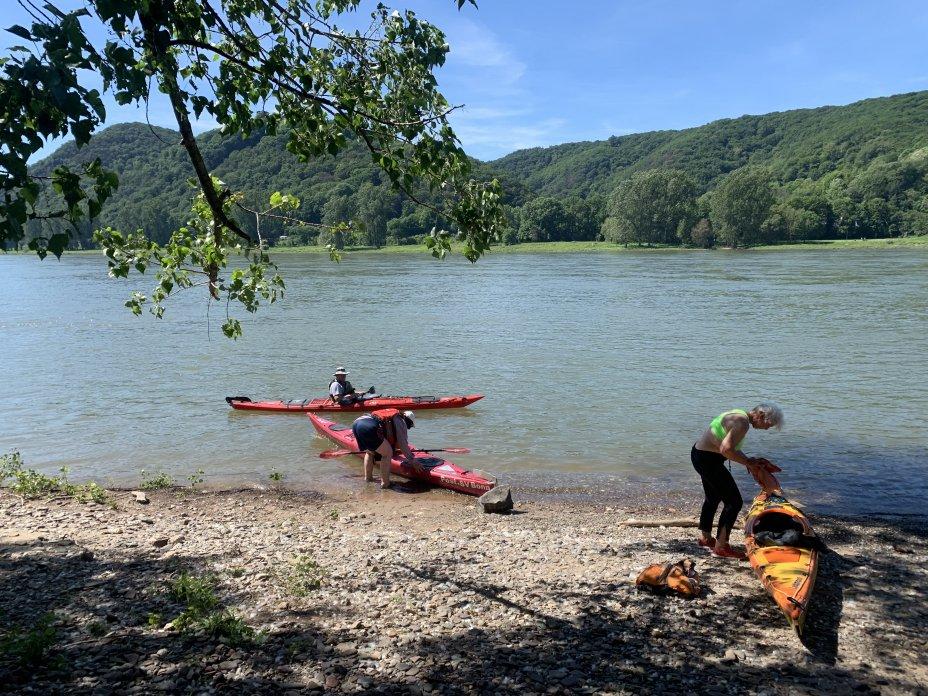 Touringpaddeln auf dem Rhein