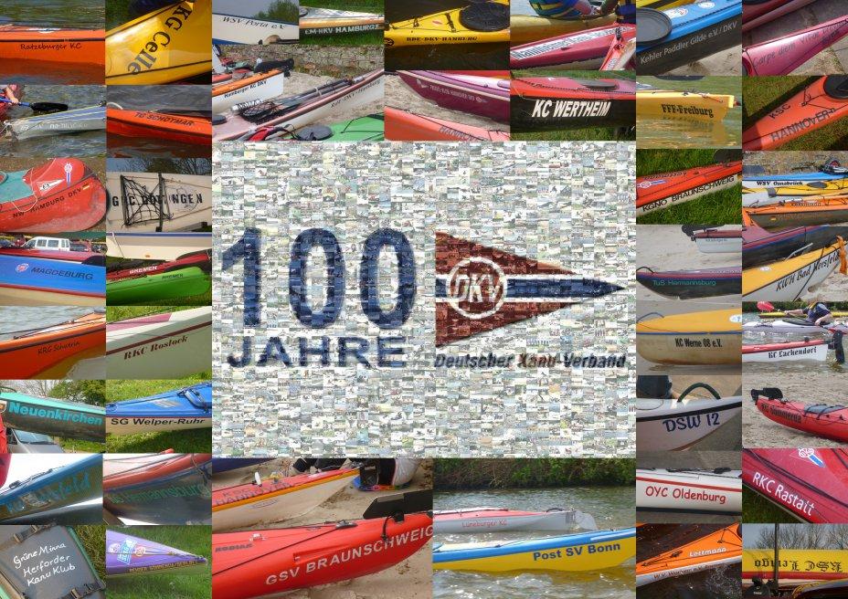 Sammlung von Vereinsnamen auf den Booten bei der Jubiläumswoche